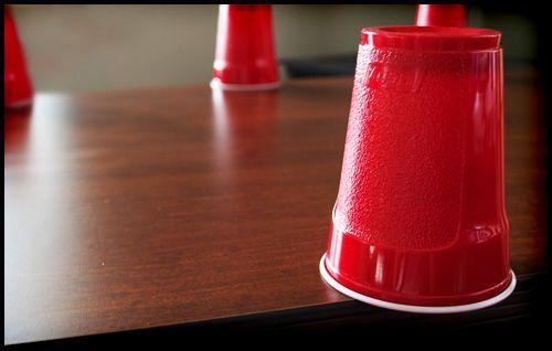 Beer Olympics: Flip Cup