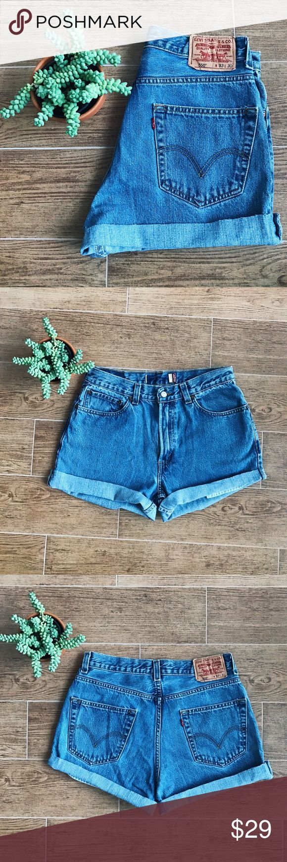 VINTAGE LEVI 550 DENIM SHORTS Vintage LEVIS 550 classic shorts • essential pair of shorts for spring! Size 8 or about a medium Urban Outfitters Shorts Jean Shorts
