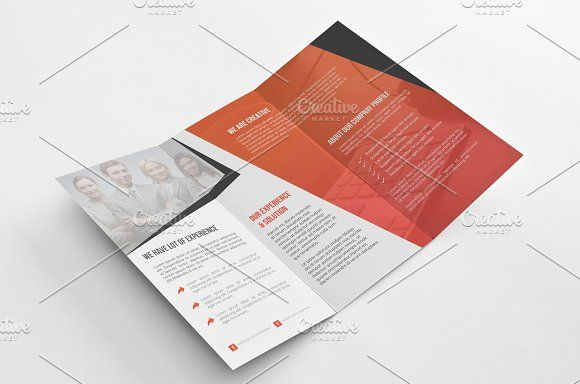 Tri Fold Brochure by Cristal Pioneer on @creativemarket