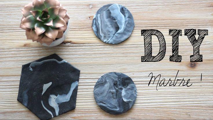 DIY #17 - Déco marbre l Créer ses dessous de verres & dessous de plat marbre - YouTube