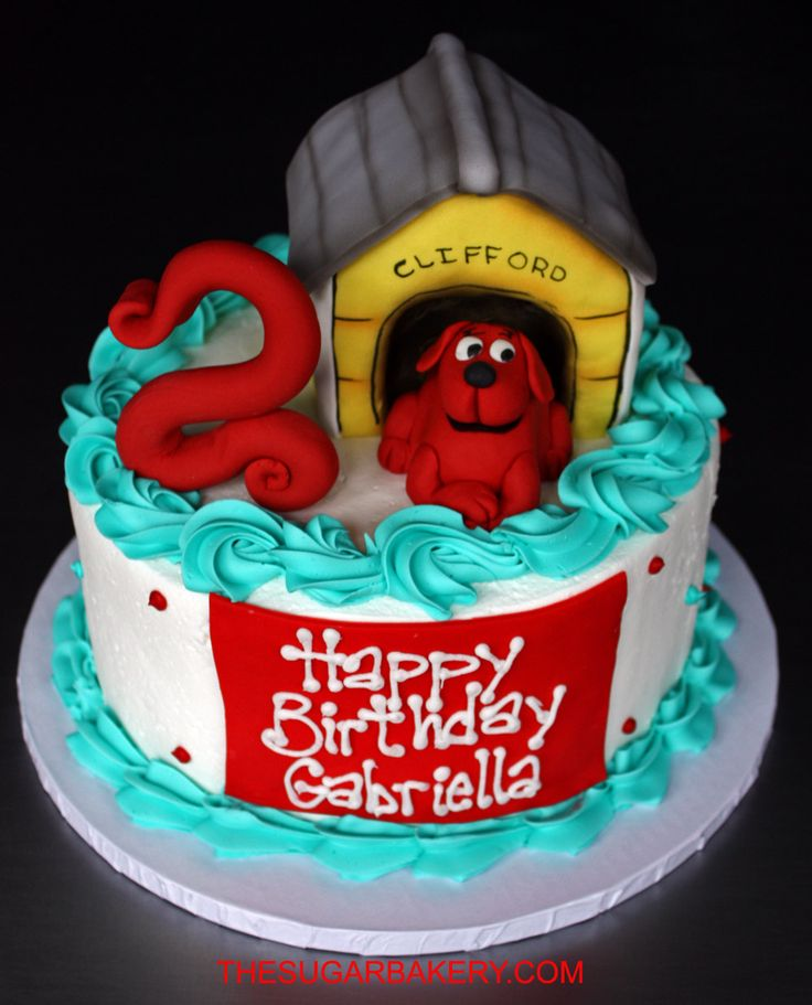 7 Best Cake Decorating Images On Pinterest Clifford Cake Animales