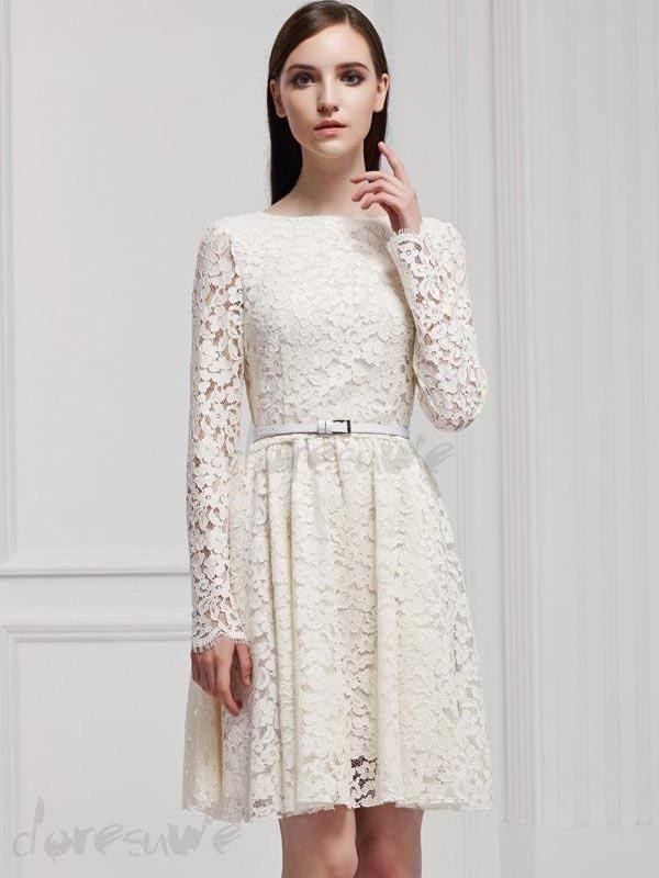 ファッション2016新作ベルト付きのレース綺麗目二次会ドレス カクテルドレスは格安とか人気のものなどいろいろな種類があり、ここで。一番のサービスと最高品質の商品Doresuweで提供しています。