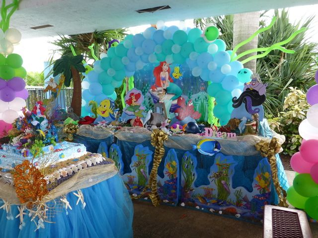 Little mermaid birthday party ideas for Ariel birthday decoration ideas