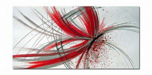 Quadri Astratti Moderni - Farfalla rossa 3, Quadri Astratti Moderni
