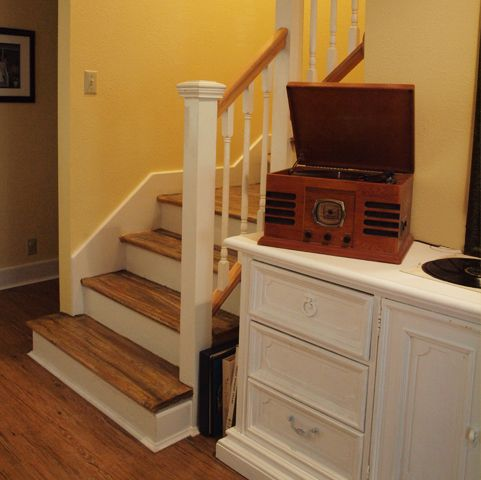 We pulled out the carpet and put in new floors. But when we got to the stairs, we knew we'd have a problem. The stairs were made from unsealed mdf and there were large cracks on the sides. We could...