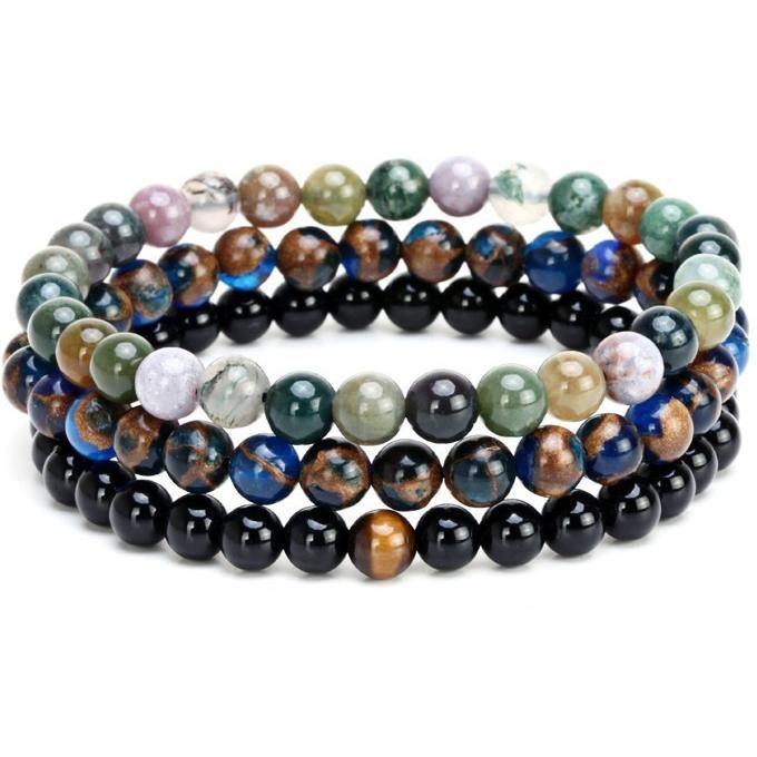 Natural Stone Beads Charm Bracelet