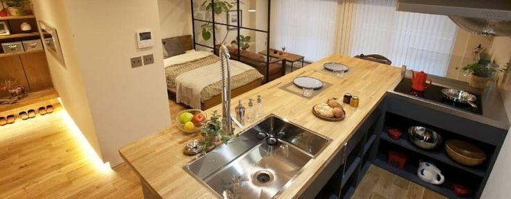 築42年のマンションがおしゃれなカフェバー風にリノベーション Homify カフェバー キッチン マンション