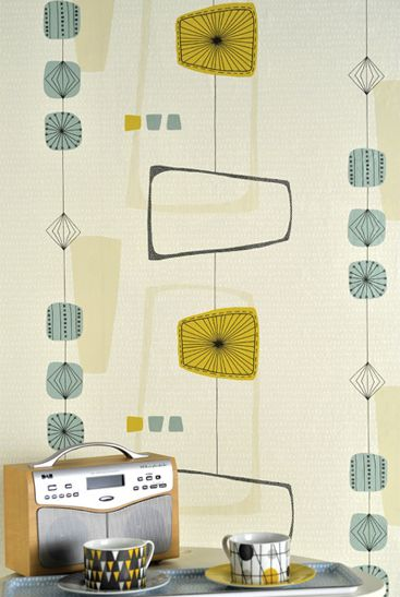 A nostalgic 50's wallpaper available in 4 different color variations. http://www.wowwallpaperhanging.com.au/retro-wallpaper/