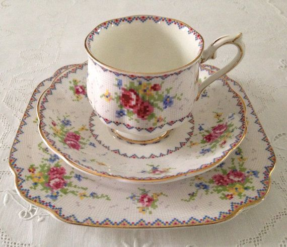 Royal Albert China Trio Tea Cup Saucer and by TheEclecticAvenue:):