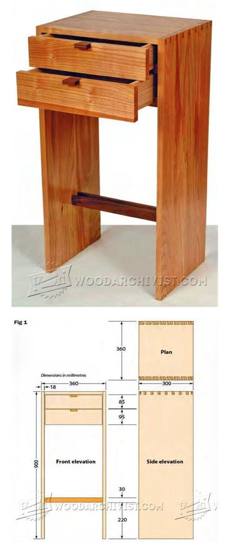 Two Drawer Unit Plan - Furniture Plans and Projects | WoodArchivist.com