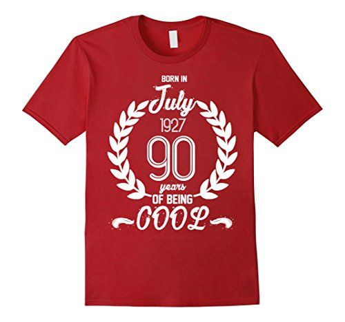 Mens Born In July 1927 90 Years Of Being Cool T-shirt Whi... https://www.amazon.com/dp/B073QK7CQ4/ref=cm_sw_r_pi_dp_x_N1rxzb5F4T140