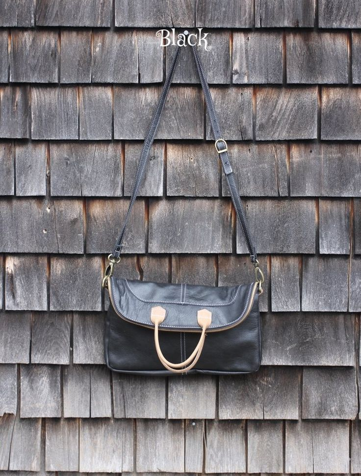 C.A.S Inc Leather Handbag. It can be a large tote or fold it over and it's a cross-body bag. Beautiful and versatile. #GiftsforHer #GiftGuide #PBMGiftGuide #PoweredbyMom #PoweredbyMomGiftGuide #handbags #purses
