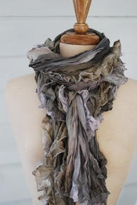 scrumptious scarf~~Fashion, Felt, Colors Mixed, Clothing Accessories, Ipad, Beautiful, Scrumptious Scarf, Grey Scarf, Gorgeous Ruffles