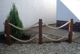 nautical rope fences . barrier