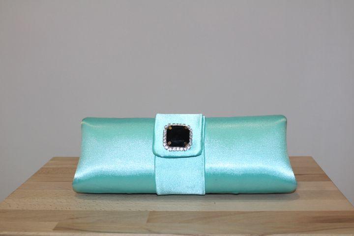 Clutch azul verdoso #boda #invitada #wedding #guest #handbag