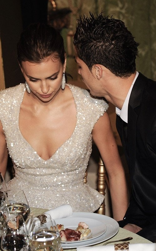 Cristiano Ronaldo And Irina Shayk - Irina Shayk wore a gorgeous shimmering Elie Saab gown with a plunging neckline and a split to the thigh At Marie Claire Prix De La Moda Awards, therefore Cristiano Ronaldo could hardly keep his eyes and hands from Irina Shayk