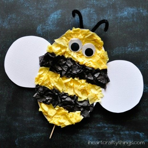 Bee Crafts For All has bumble bee crafts for kids to make. Easy honey bee crafts for preschoolers, kindergarten and adults. Paper, craft sticks, egg carton, bee crafts. Bee decoration craft ideas.