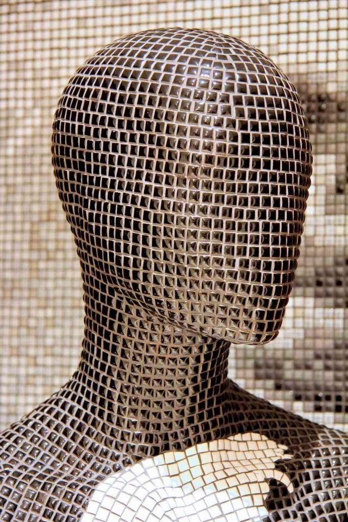 Decorative Mannequin Art by Mosaics Art London #decor #mosaicart #mannequin