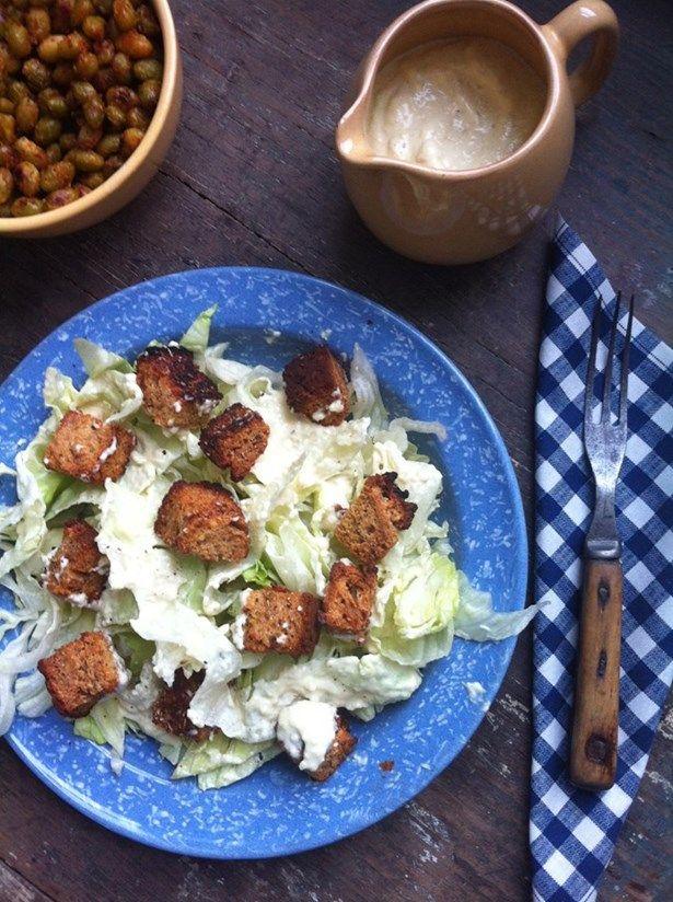 Salade César vegan, sans gluten, sans lactose ET gourmande!