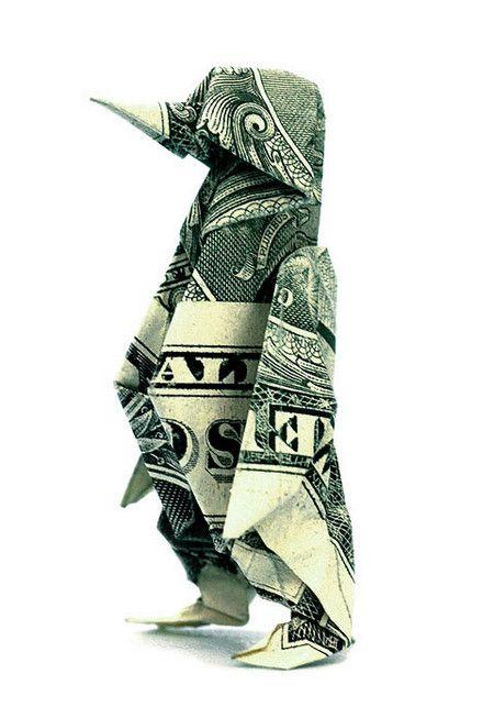 Традиционной искусство в современном обличье - оригами из долларовых купюр — фото 5