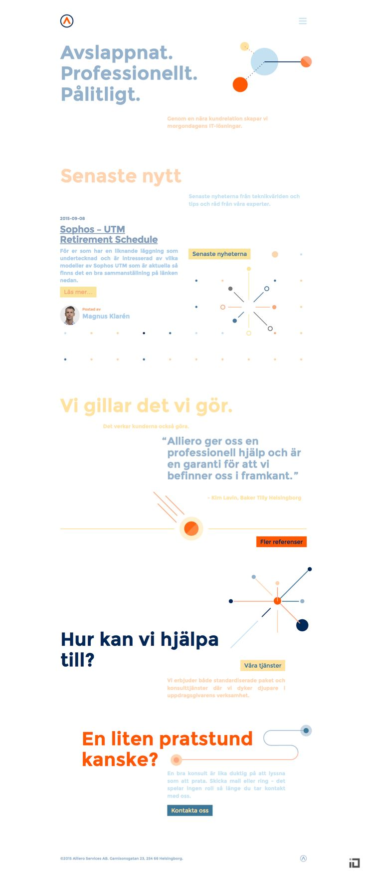 Alliero Website - Binalogue - UX, Web design & development