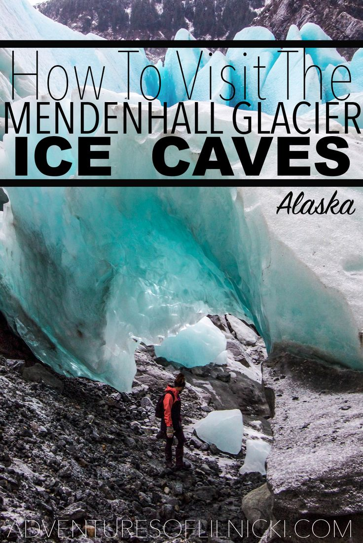 Want to see the most beautiful spot in Alaska? Read on to find out how to get to Mendenhall Ice Cave outside Juneau, Alaska.  Pictured: Mendenhall Glacier