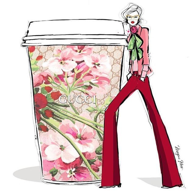 #mulpix I hope my Monday morning coffee looks as pretty as this!! Have a fab…