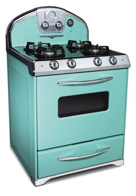 Can I have one please?  Turquoise, retro range.Vintage Stoves, Dreams Kitchens, Appliances, Colors, House, Retro Style, Modern Kitchens, Robin Eggs Blue, Retro Kitchens