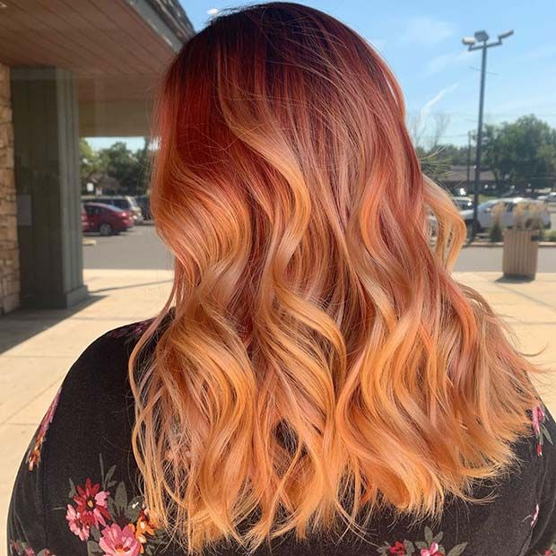 23 Orange Hair Color Ideas For Bold Women Fashion Blog Pastel Orange Hair Hair Color Orange Edgy Hair