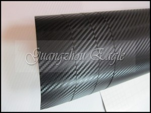 Black 3D Carbon Fiber Vinyl / Smaller texture