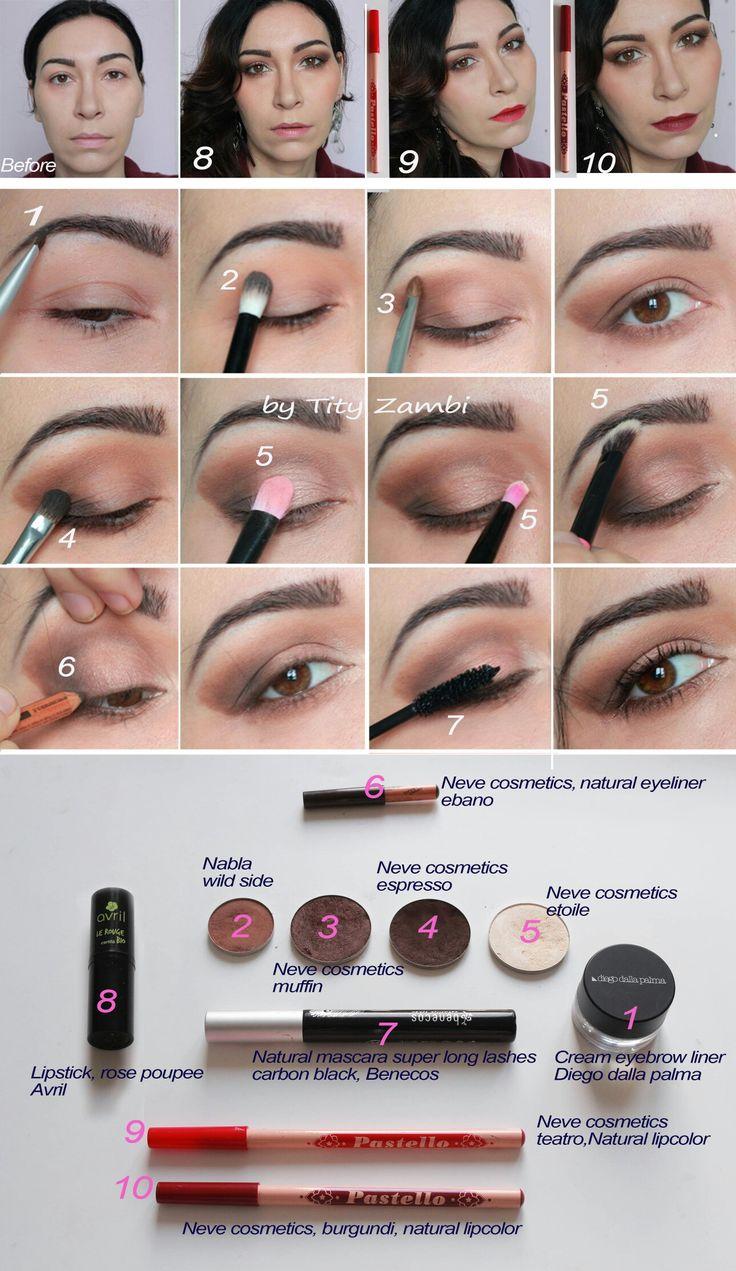 Make-up tutorial: 3 look in uno, nude look e due look da sera che ho ottenuto semplicemente variando il colore di rossetto. #trucco #makeup #elegante #tutorial #naturallook
