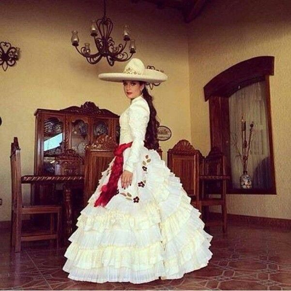 Traditional Charra Wedding Or Quince Dress From Jalisco Mexico