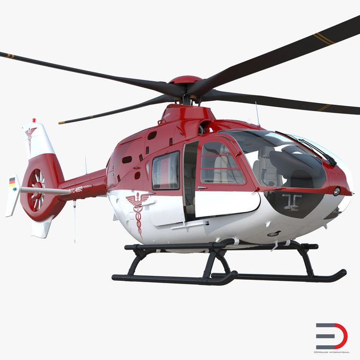 3D Medical Air Assistance Eurocopter EC-135 Rigged