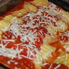 Three Cheese Manicotti--This is how I make manicotti but have homemade (cooked all day) sauce with it.