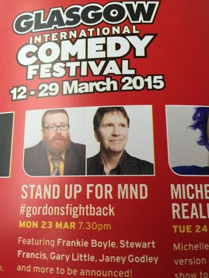 I am doing this benefit for MND at the King's in March, with Stewart, Janey, Gary. Decent cunts.