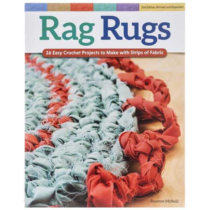Book Braided Rugs Diy Fabric Strips Crochet Rag Rugs In 2020 Denim Rag Rugs Braided Rug Diy Rag Rug