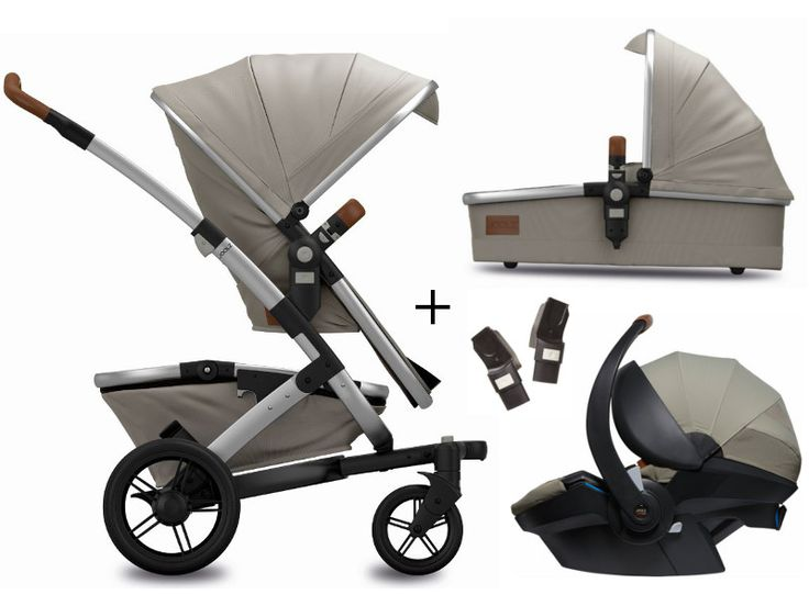 Joolz Geo Mono Earth II pram + Joolz infant car seat iZi Modular 3 in 1 Travel Set This set consists of the Joolz stroller, a baby carrycot and the Joolz infant car seat. At the beginning you need the baby carrycot because your...