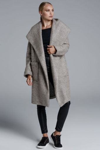 CKONTOVA hooded cardigan to warm your cold days... Grey