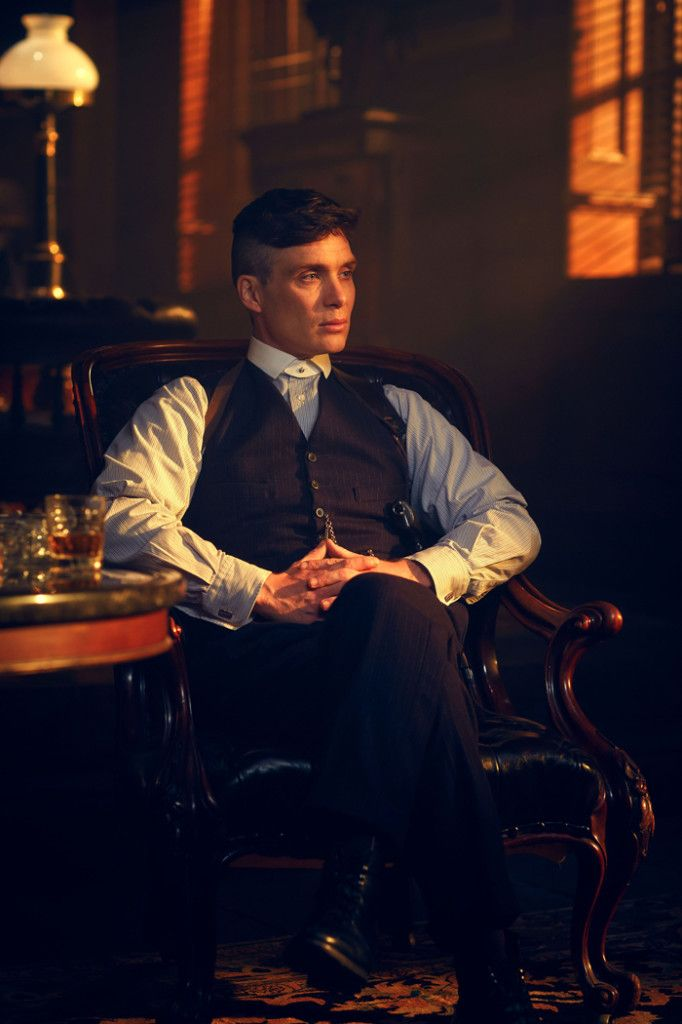 "Tommy Shelby looking Godfatherly...""Now, some of you in this room have expressed their reservations. Fair enough. Any of you who want no part in the future of this company, walk out the door . . right now. Go raise your chickens. For those of you with ambition . . the expansion process begins tomorrow."""