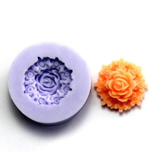 F0081-S single cavity beautiful flower silicone mold for sugar paste fondant mold for cake decoration baking tools party cookware