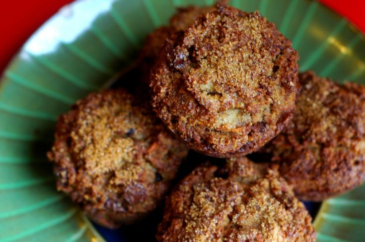 Gluten Free Sweet Carrot Muffins with Cinnamon & Coconut