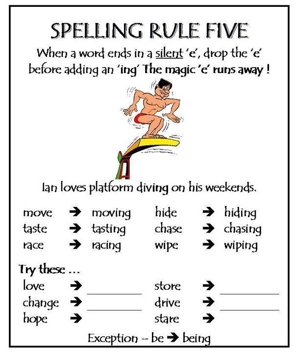 Spelling Rule 5