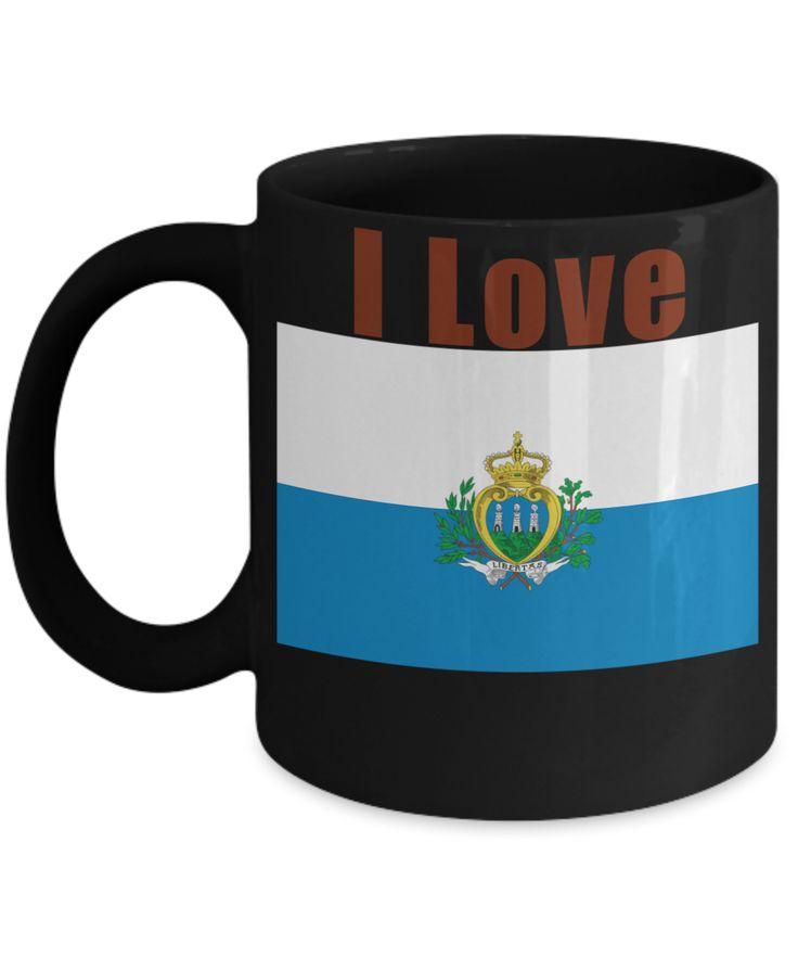 I Love San Marino Coffee Mug With A Flag