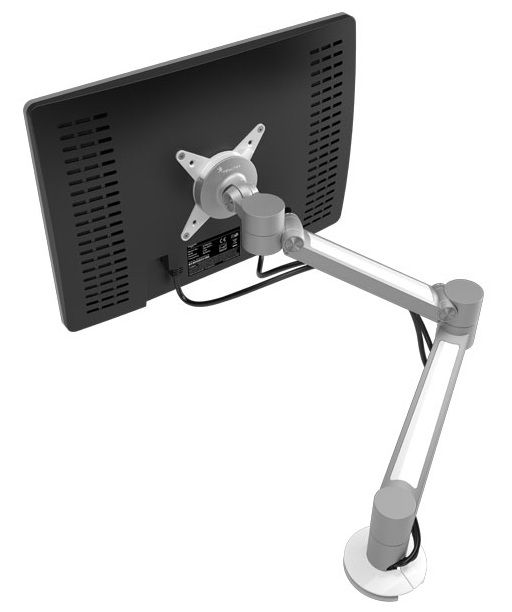 Dataflex 58.622 | ViewLite Plus Monitor Arm - Product Page: www.genesys-uk.com/Ergonomic-Products/Monitor-Arms/Dataflex-58.622-ViewLite-Plus-Monitor-Arm.Html  Genesys Office Furniture - Home Page: www.genesys-uk.com  The Dataflex 58.622 ViewLite Plus Monitor Arm offers ease of use and ensures that cables can be neatly concealed in a timeless design, that can be adjusted into any position with a simple hand movement.