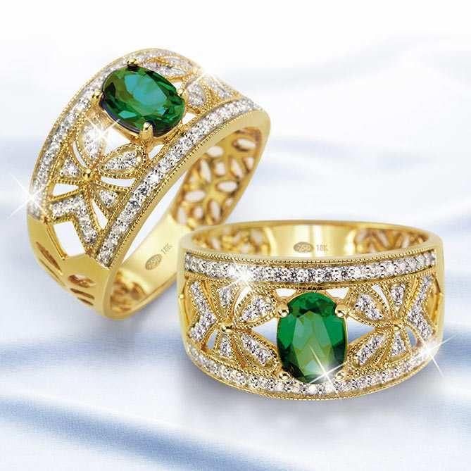 Anillo Sueño de Esmeralda: Diamantes