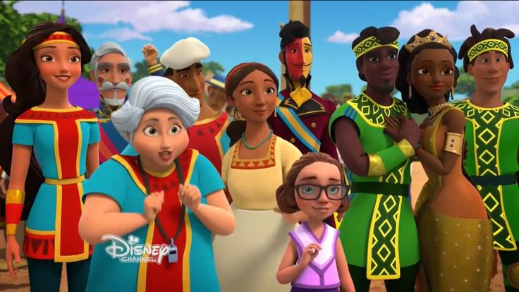 The girl in pink is named Cerys who got to be animated because of the Make A Wish Foundation wih Disney | Olaball | Elena of Avalor