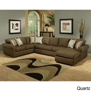 Furniture of America Keaton Chenille Sectional Sofa - 13955168 - Overstock.com Shopping - Big Discounts on Furniture of America Sectional Sofas