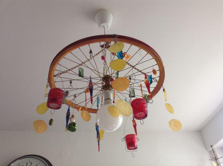 Fahrradfelge als Lampe <3