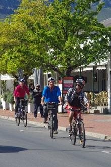 Sip 'n Cycle in Franschhoek - BelAfrique your personal travel planner - www.BelAfrique.com