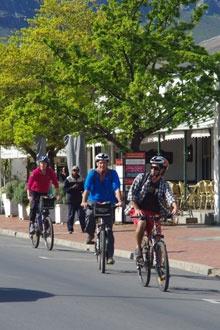 Sip 'n Cycle in Franschhoek - BelAfrique your personal travel planner - www.BelAfrique.com